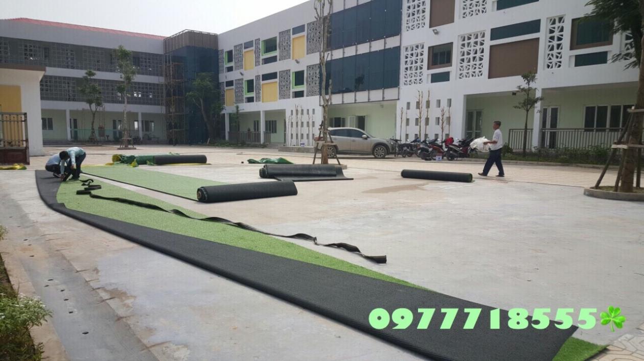 AFD Grass - Cung cap lap dat co nhan tao truong mam non Trang An, Kien Hung, Ha dong, Ha Noi  _QRuPV → Công ty AFD grass