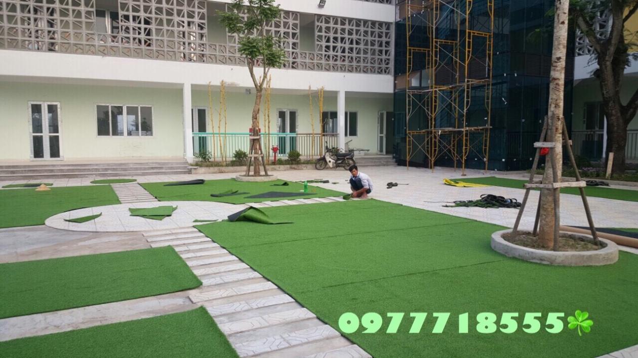 AFD Grass - Cung cap lap dat co nhan tao truong mam non Trang An, Kien Hung, Ha dong, Ha Noi  _PMGUl → Công ty AFD grass